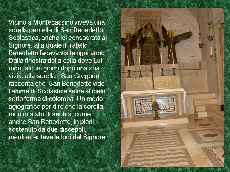 Partito da Subiaco San Benedetto si diresse alla volta di Cassino: era circa il 529. A Cassino visse ancora 18 anni circa: lavorò per la conversione d