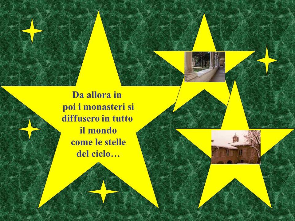Vicino a Montecassino viveva una sorella gemella di San Benedetto, Scolastica, anche lei consacrata al Signore, alla quale il fratello Benedetto facev
