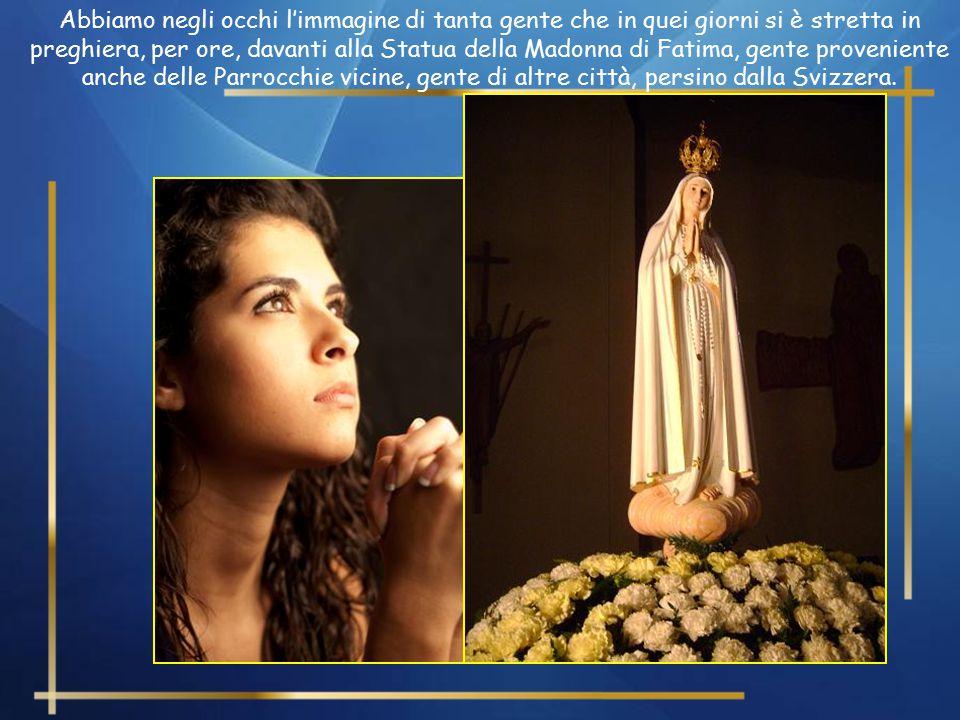 Nei giorni scorsi a Paderno Dugnano abbiamo visto come il popolo di Dio ha dimostrato un profondo e convinto affetto alla Madre di Dio.