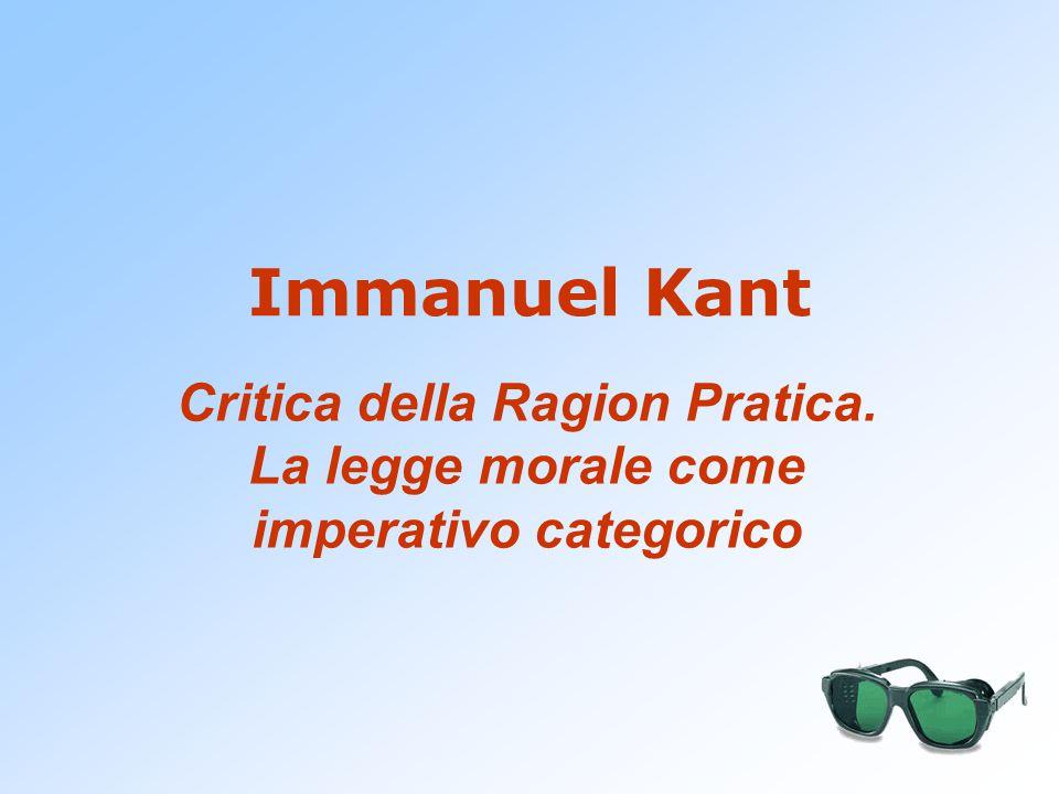Il problema etico È affrontato da Kant in: Fondazione della metafisica dei costumi (1785) Critica della Ragion Pratica (1788) Metafisica dei costumi (1796)