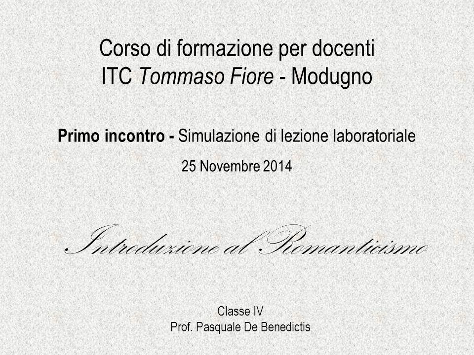 Corso di formazione per docenti ITC Tommaso Fiore - Modugno Primo incontro - Simulazione di lezione laboratoriale 25 Novembre 2014 Introduzione al Rom