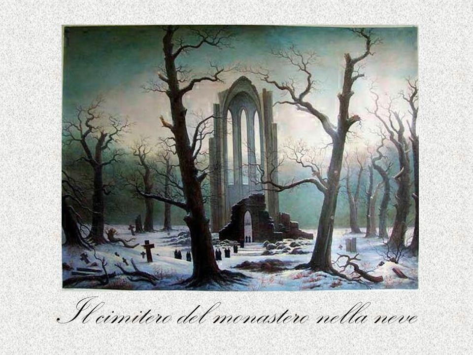 Il cimitero del monastero nella neve