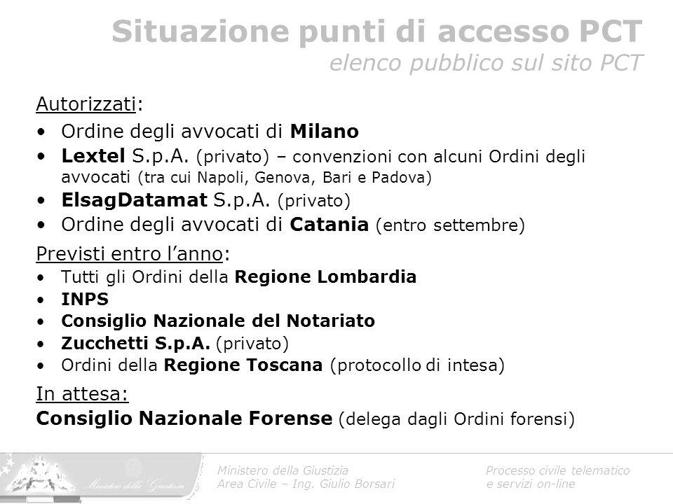 Autorizzati: Ordine degli avvocati di Milano Lextel S.p.A. (privato) – convenzioni con alcuni Ordini degli avvocati (tra cui Napoli, Genova, Bari e Pa
