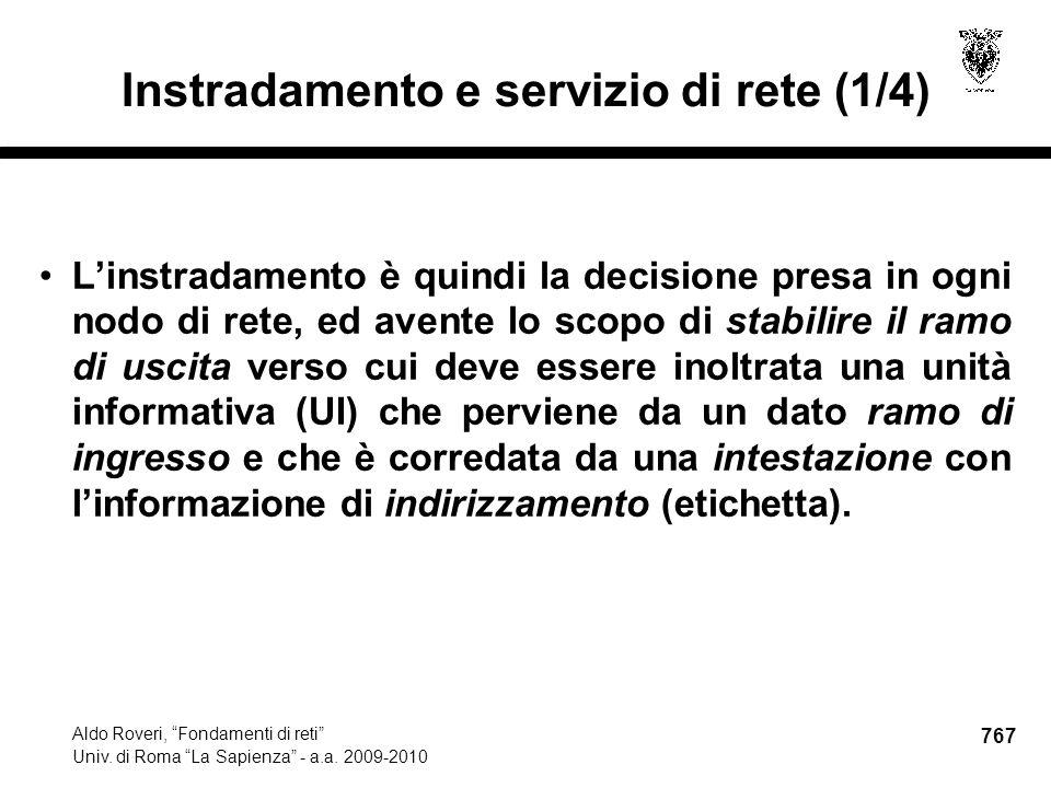 767 Aldo Roveri, Fondamenti di reti Univ. di Roma La Sapienza - a.a.