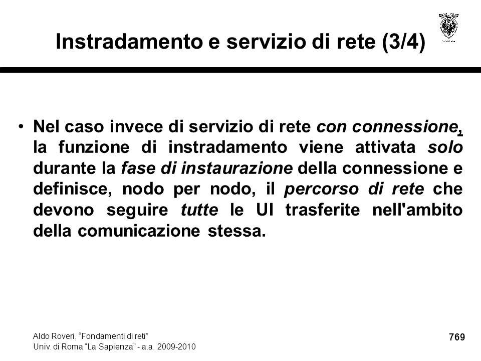 769 Aldo Roveri, Fondamenti di reti Univ. di Roma La Sapienza - a.a.