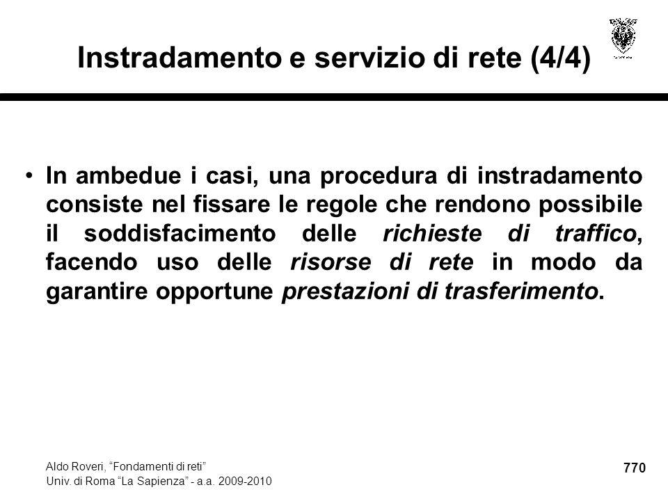 770 Aldo Roveri, Fondamenti di reti Univ. di Roma La Sapienza - a.a.