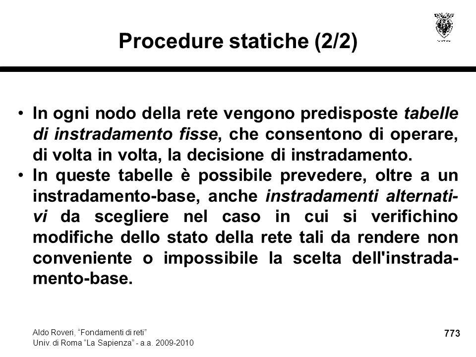 773 Aldo Roveri, Fondamenti di reti Univ. di Roma La Sapienza - a.a.