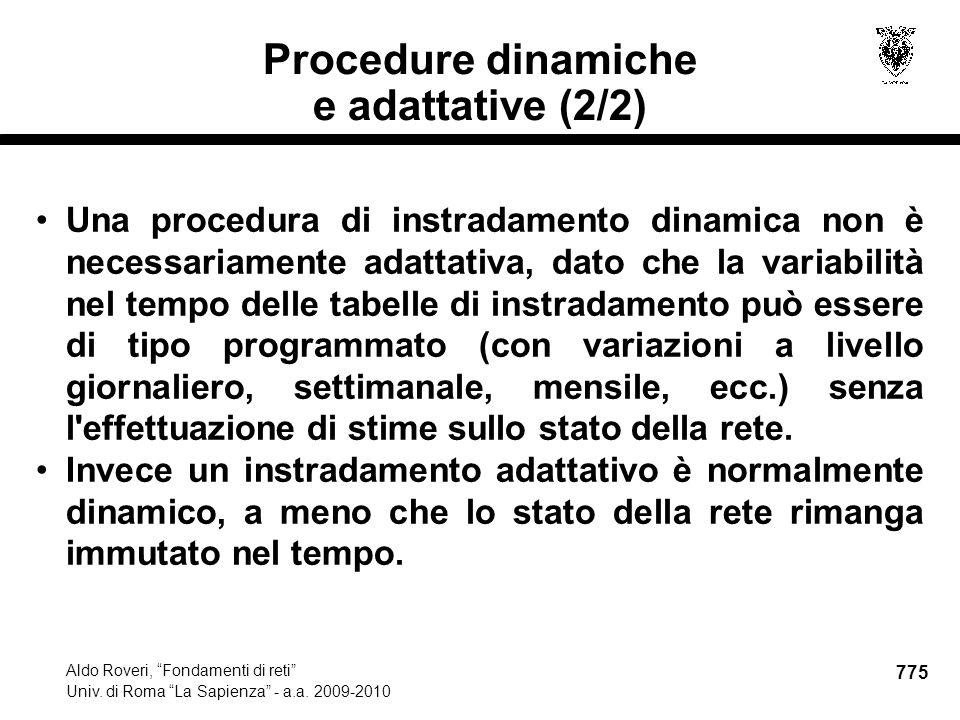 775 Aldo Roveri, Fondamenti di reti Univ. di Roma La Sapienza - a.a.