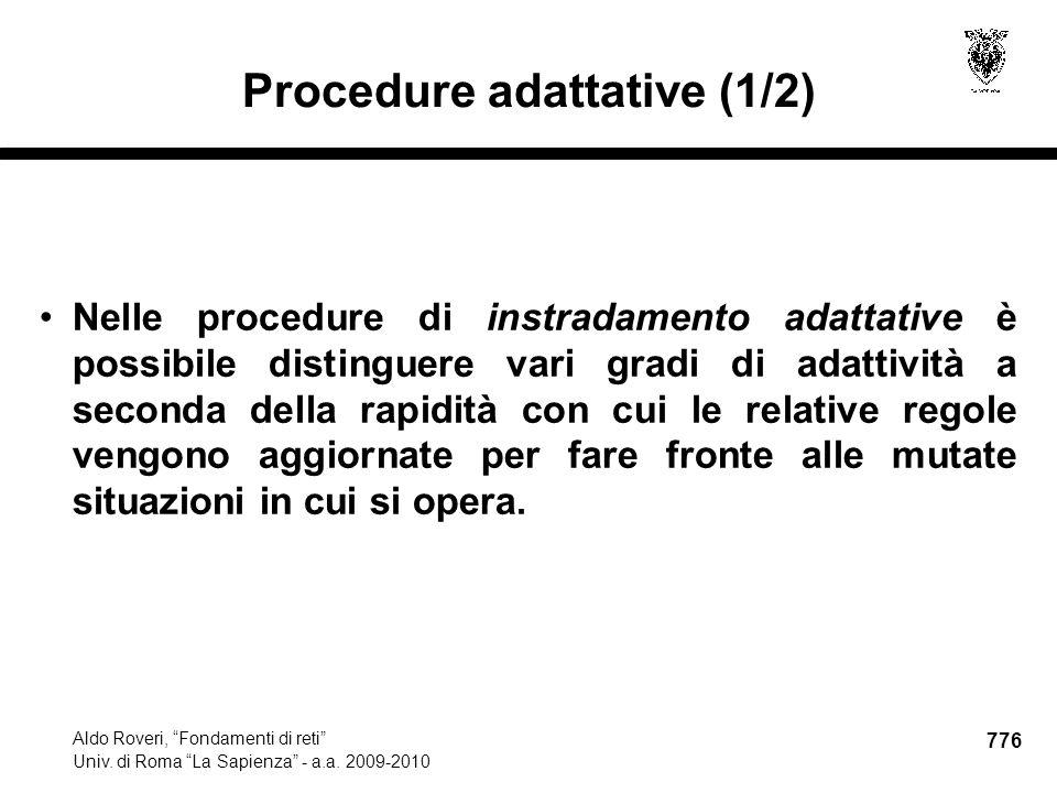 776 Aldo Roveri, Fondamenti di reti Univ. di Roma La Sapienza - a.a.