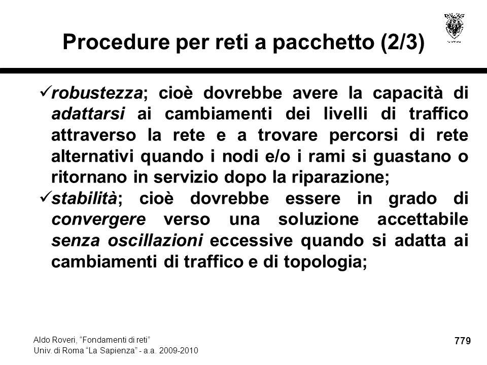 779 Aldo Roveri, Fondamenti di reti Univ. di Roma La Sapienza - a.a.
