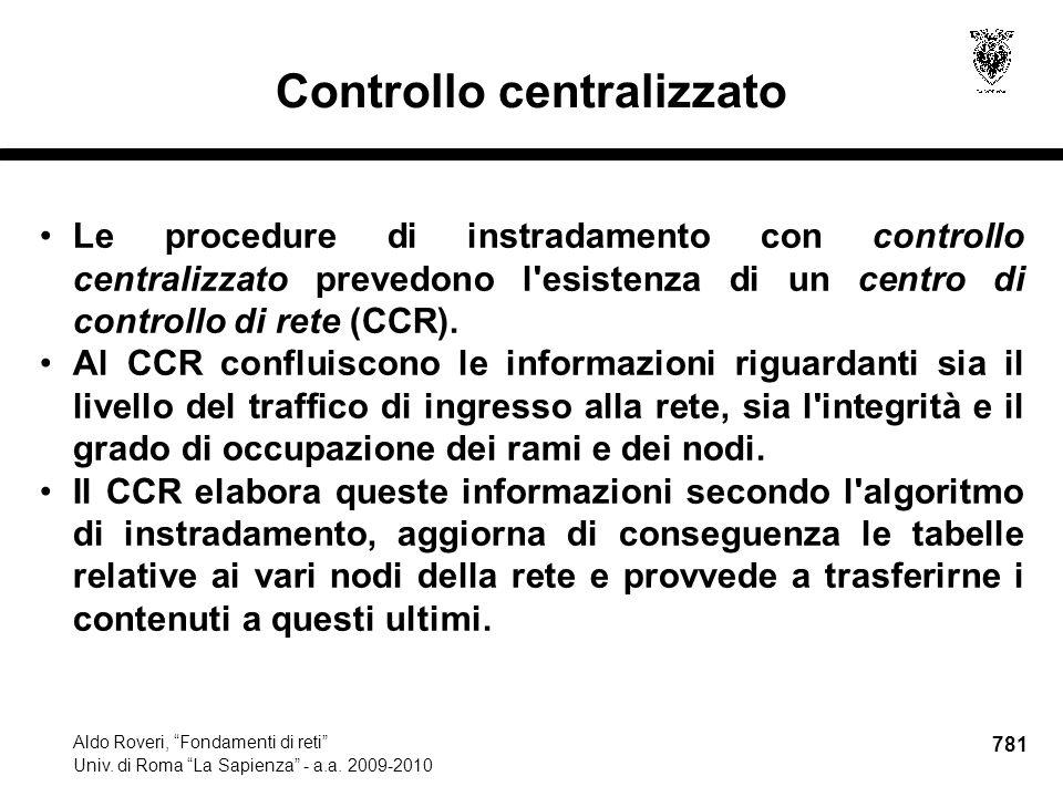 781 Aldo Roveri, Fondamenti di reti Univ. di Roma La Sapienza - a.a.