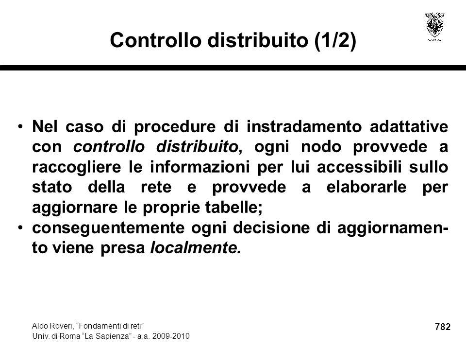 782 Aldo Roveri, Fondamenti di reti Univ. di Roma La Sapienza - a.a.