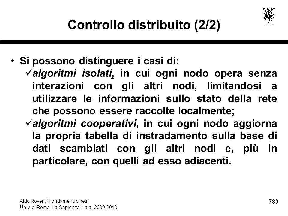 783 Aldo Roveri, Fondamenti di reti Univ. di Roma La Sapienza - a.a.