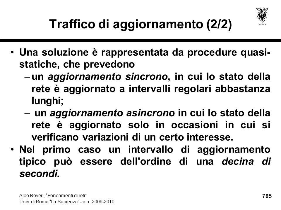 785 Aldo Roveri, Fondamenti di reti Univ. di Roma La Sapienza - a.a.