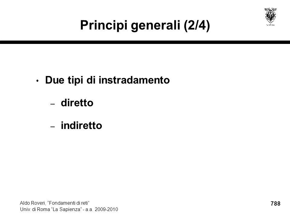 788 Aldo Roveri, Fondamenti di reti Univ. di Roma La Sapienza - a.a.