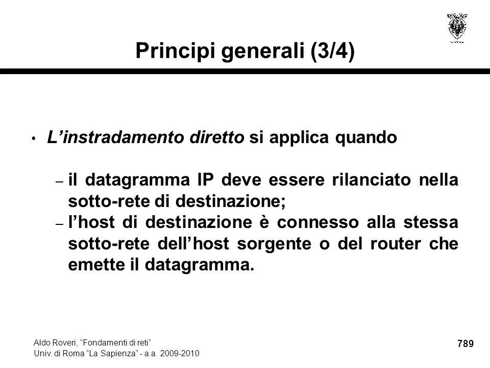 789 Aldo Roveri, Fondamenti di reti Univ. di Roma La Sapienza - a.a.