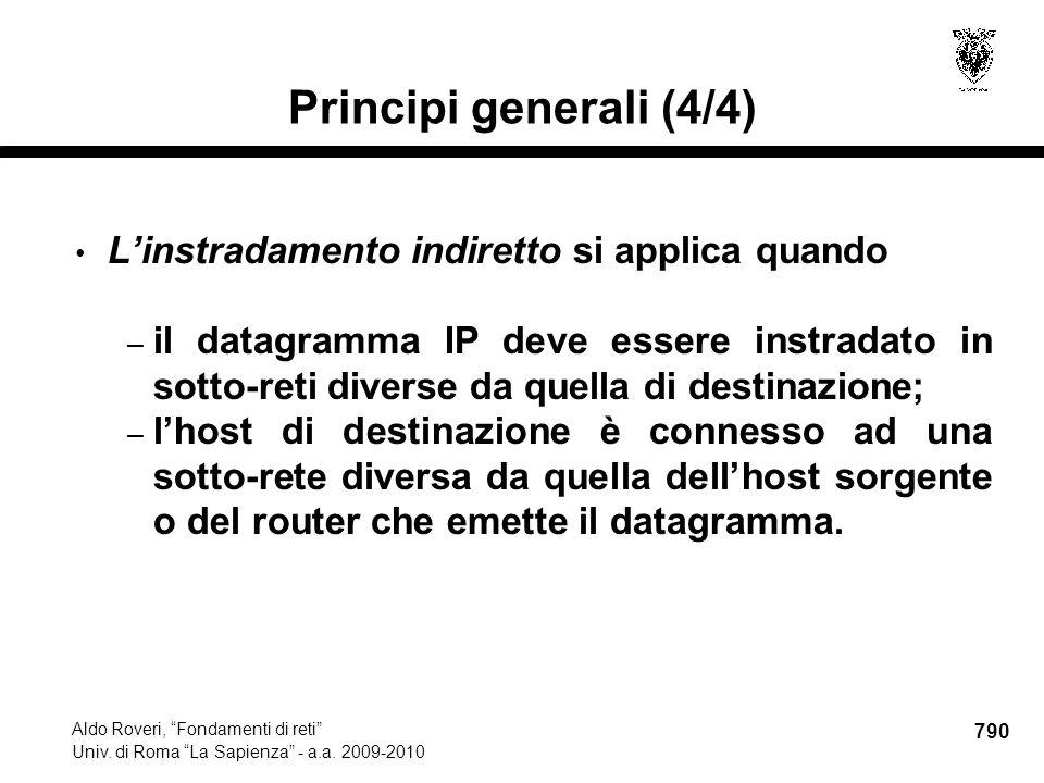 790 Aldo Roveri, Fondamenti di reti Univ. di Roma La Sapienza - a.a.