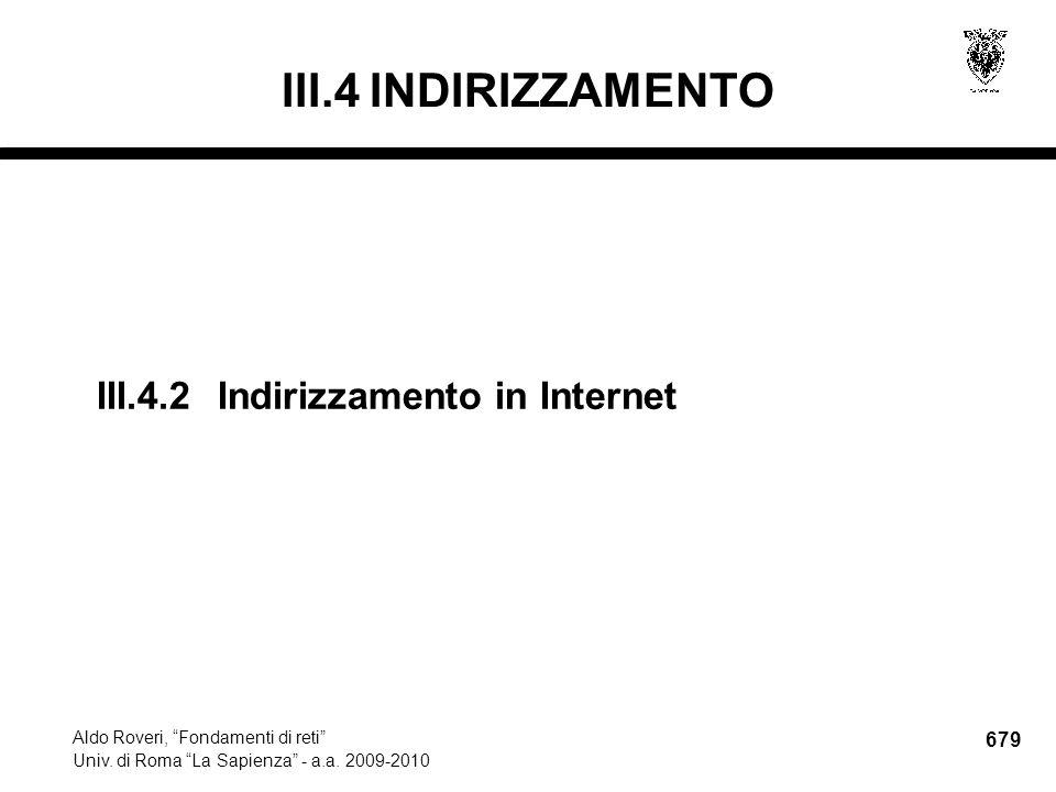 679 Aldo Roveri, Fondamenti di reti Univ. di Roma La Sapienza - a.a.