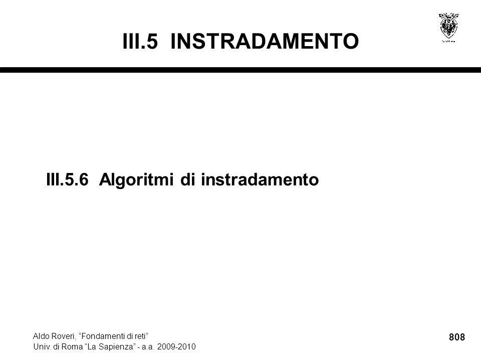 808 Aldo Roveri, Fondamenti di reti Univ. di Roma La Sapienza - a.a.