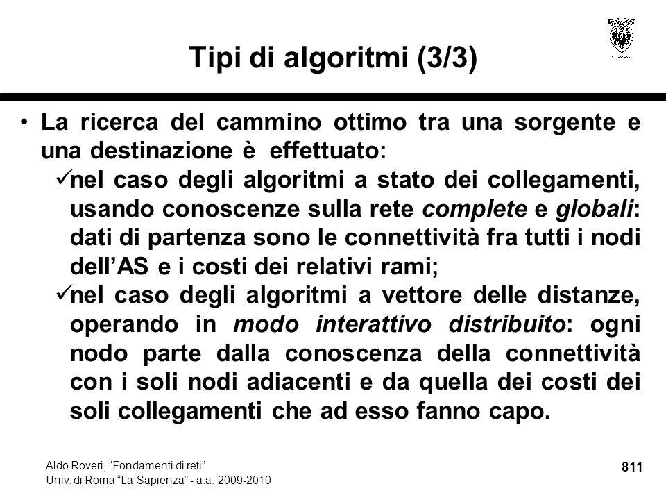 811 Aldo Roveri, Fondamenti di reti Univ. di Roma La Sapienza - a.a.
