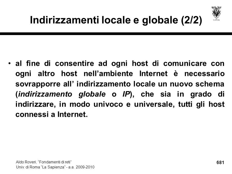 681 Aldo Roveri, Fondamenti di reti Univ. di Roma La Sapienza - a.a.