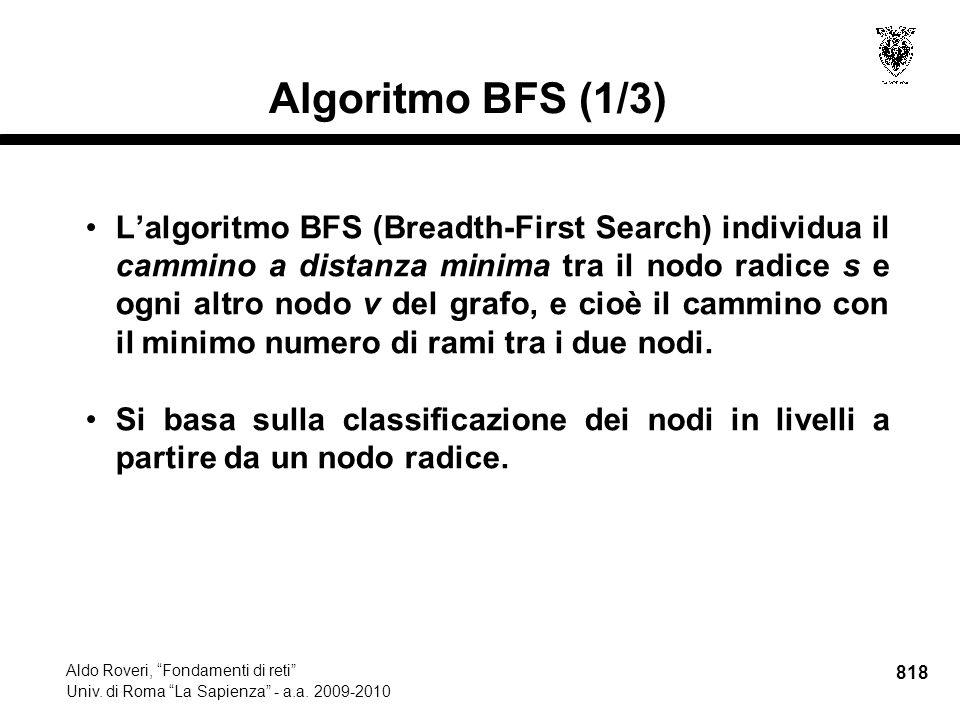 818 Aldo Roveri, Fondamenti di reti Univ. di Roma La Sapienza - a.a.