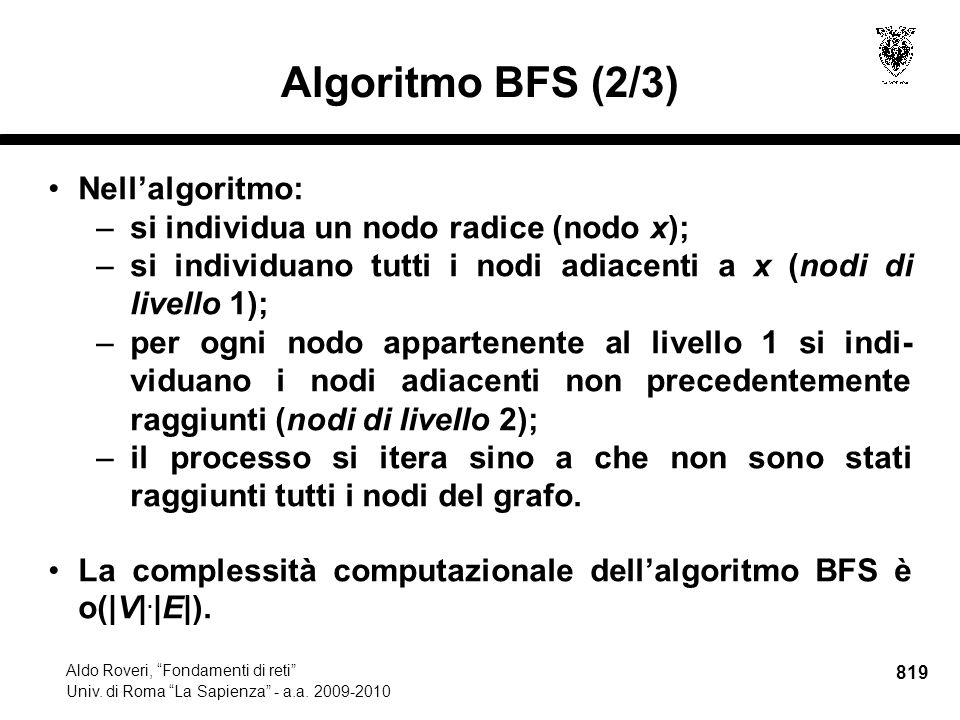 819 Aldo Roveri, Fondamenti di reti Univ. di Roma La Sapienza - a.a.