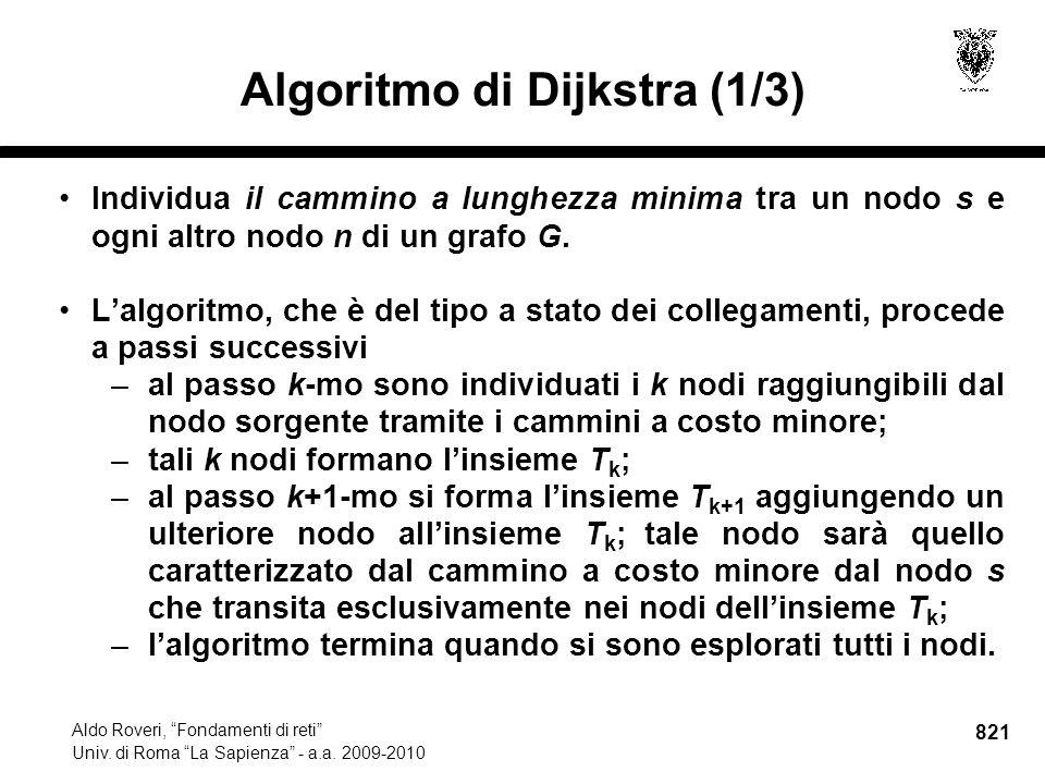 821 Aldo Roveri, Fondamenti di reti Univ. di Roma La Sapienza - a.a.