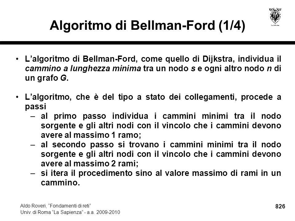 826 Aldo Roveri, Fondamenti di reti Univ. di Roma La Sapienza - a.a.
