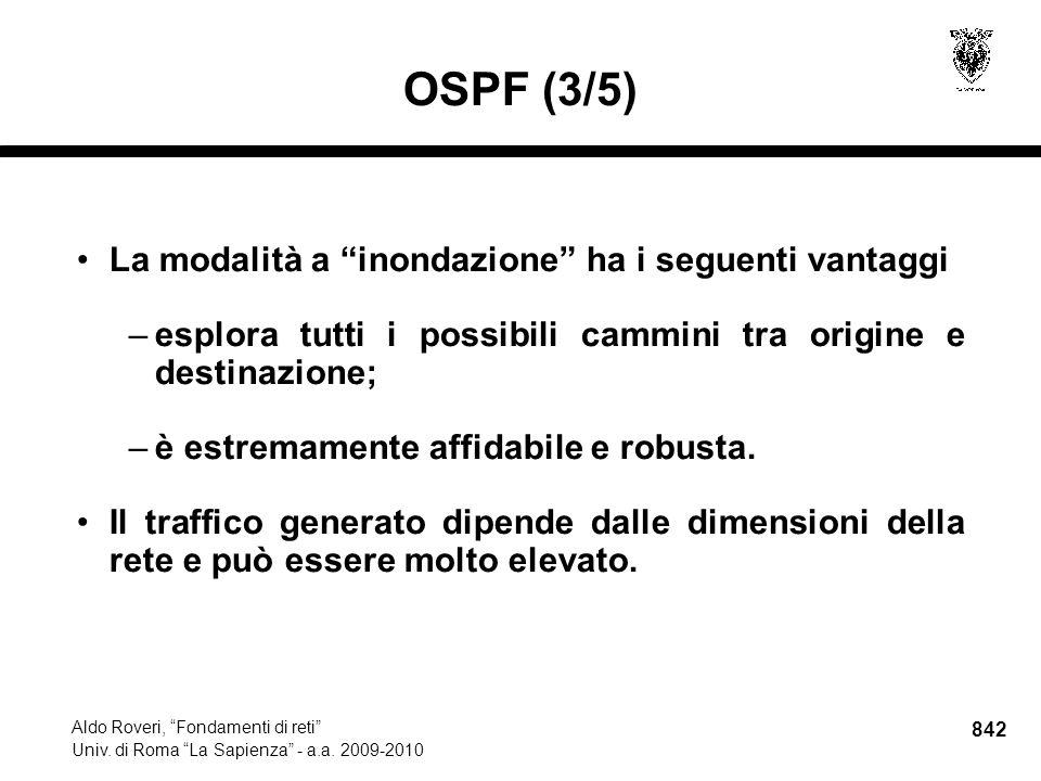 842 Aldo Roveri, Fondamenti di reti Univ. di Roma La Sapienza - a.a.