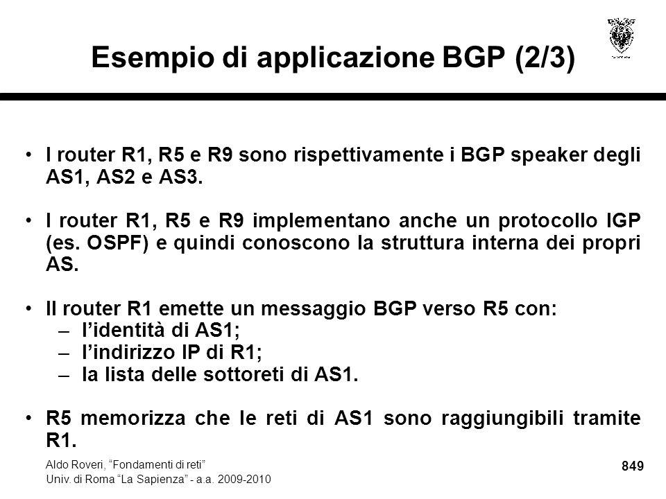 849 Aldo Roveri, Fondamenti di reti Univ. di Roma La Sapienza - a.a.