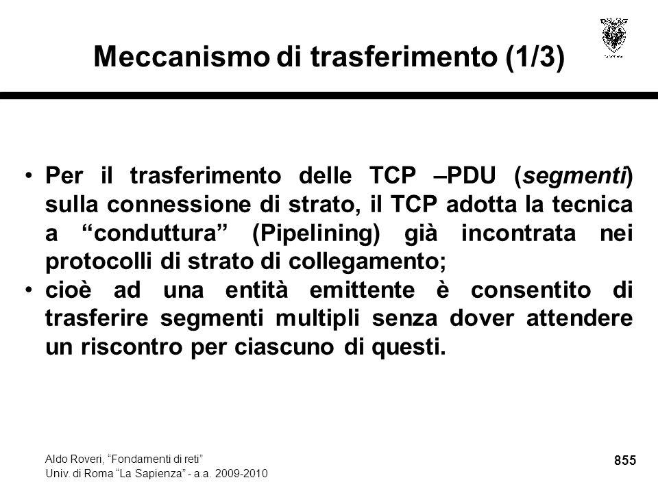 855 Aldo Roveri, Fondamenti di reti Univ. di Roma La Sapienza - a.a.