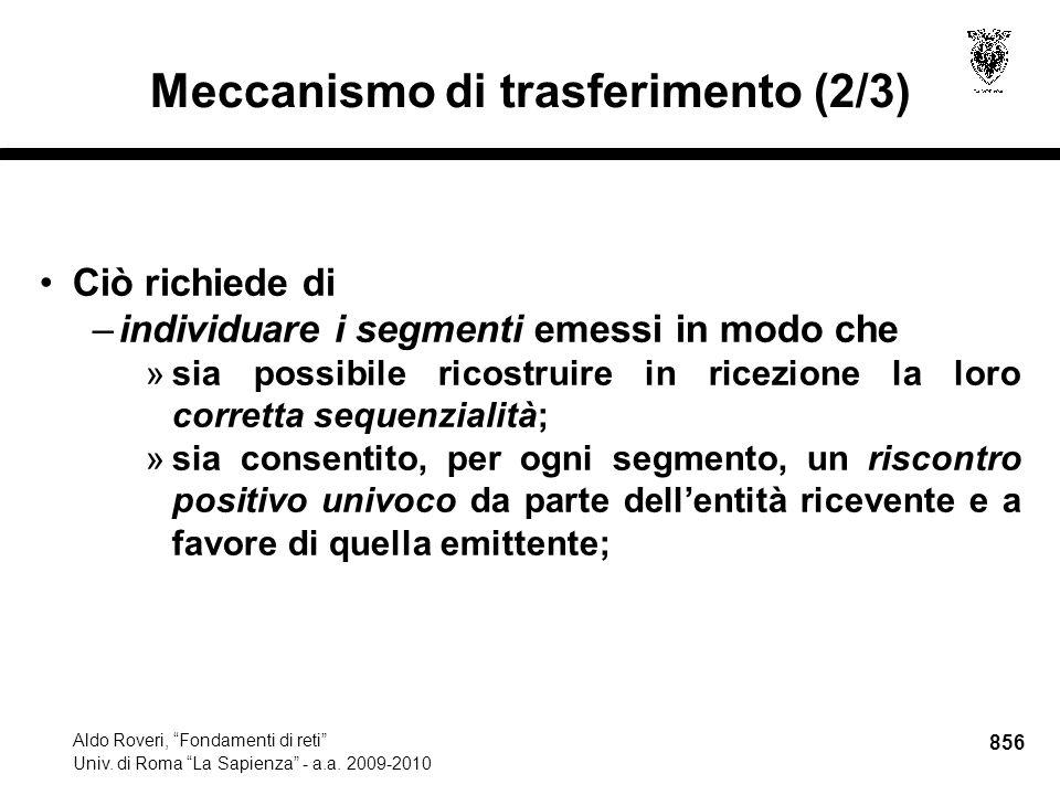 856 Aldo Roveri, Fondamenti di reti Univ. di Roma La Sapienza - a.a.