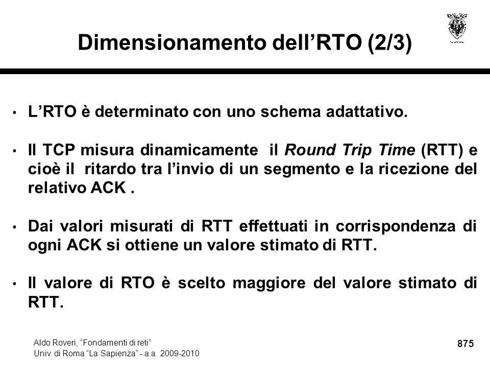 875 Aldo Roveri, Fondamenti di reti Univ. di Roma La Sapienza - a.a.