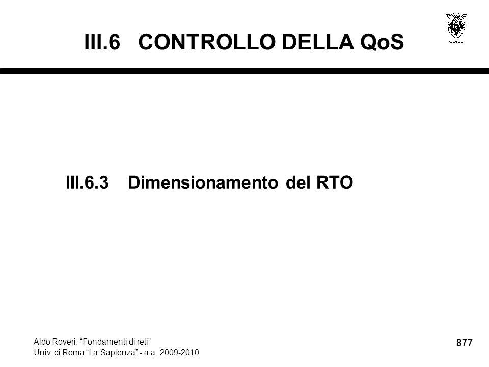 877 Aldo Roveri, Fondamenti di reti Univ. di Roma La Sapienza - a.a.