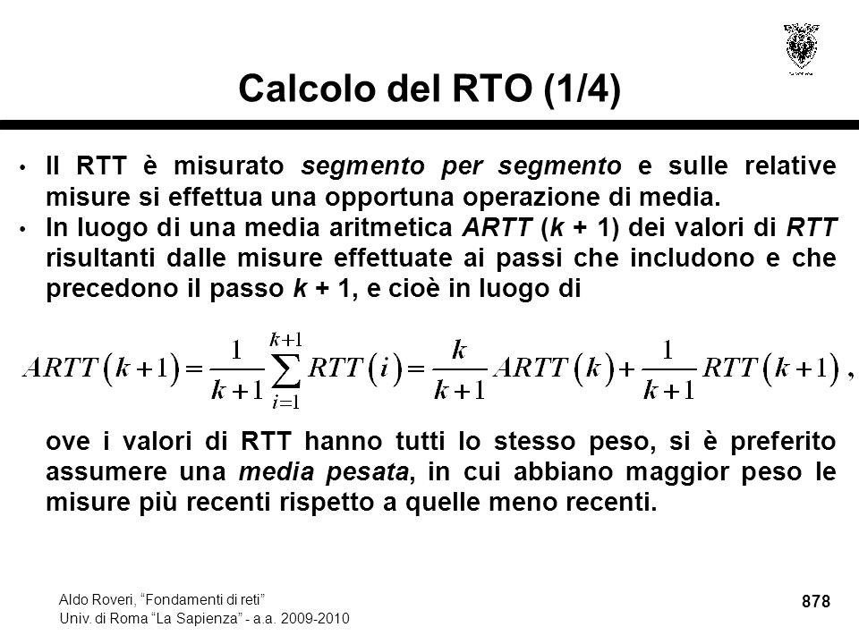 878 Aldo Roveri, Fondamenti di reti Univ. di Roma La Sapienza - a.a.