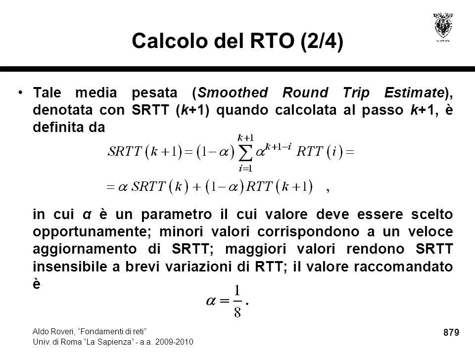 879 Aldo Roveri, Fondamenti di reti Univ. di Roma La Sapienza - a.a.