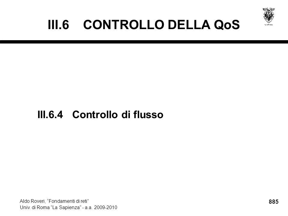 885 Aldo Roveri, Fondamenti di reti Univ. di Roma La Sapienza - a.a.