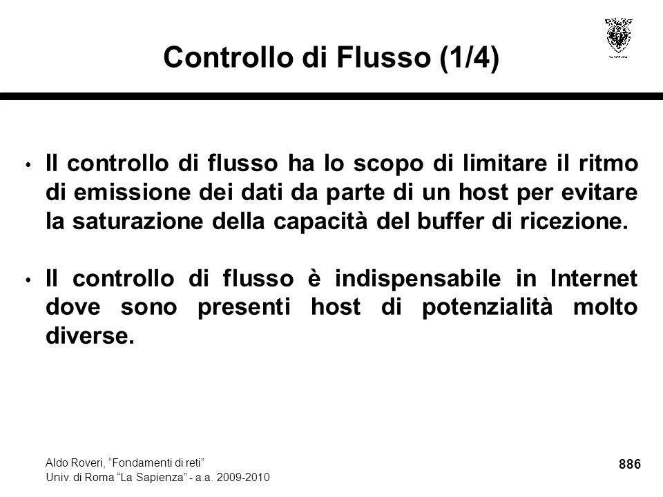 886 Aldo Roveri, Fondamenti di reti Univ. di Roma La Sapienza - a.a.