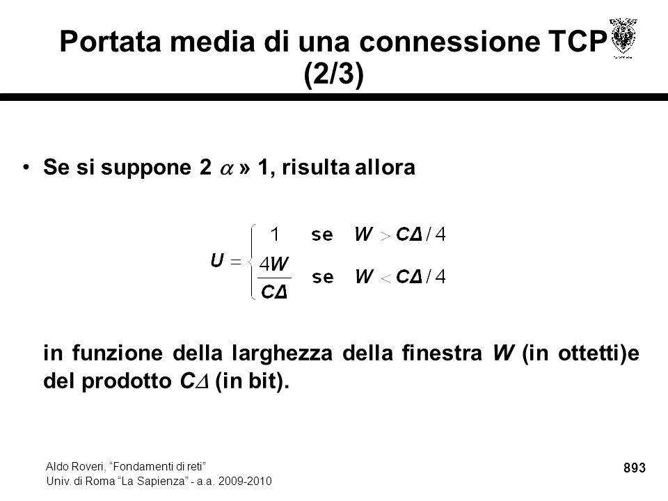 893 Aldo Roveri, Fondamenti di reti Univ. di Roma La Sapienza - a.a.
