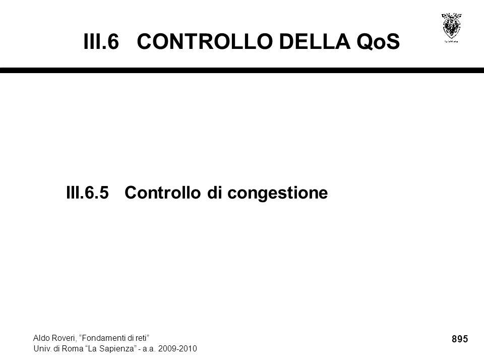 895 Aldo Roveri, Fondamenti di reti Univ. di Roma La Sapienza - a.a.