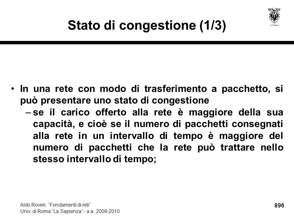 896 Aldo Roveri, Fondamenti di reti Univ. di Roma La Sapienza - a.a.