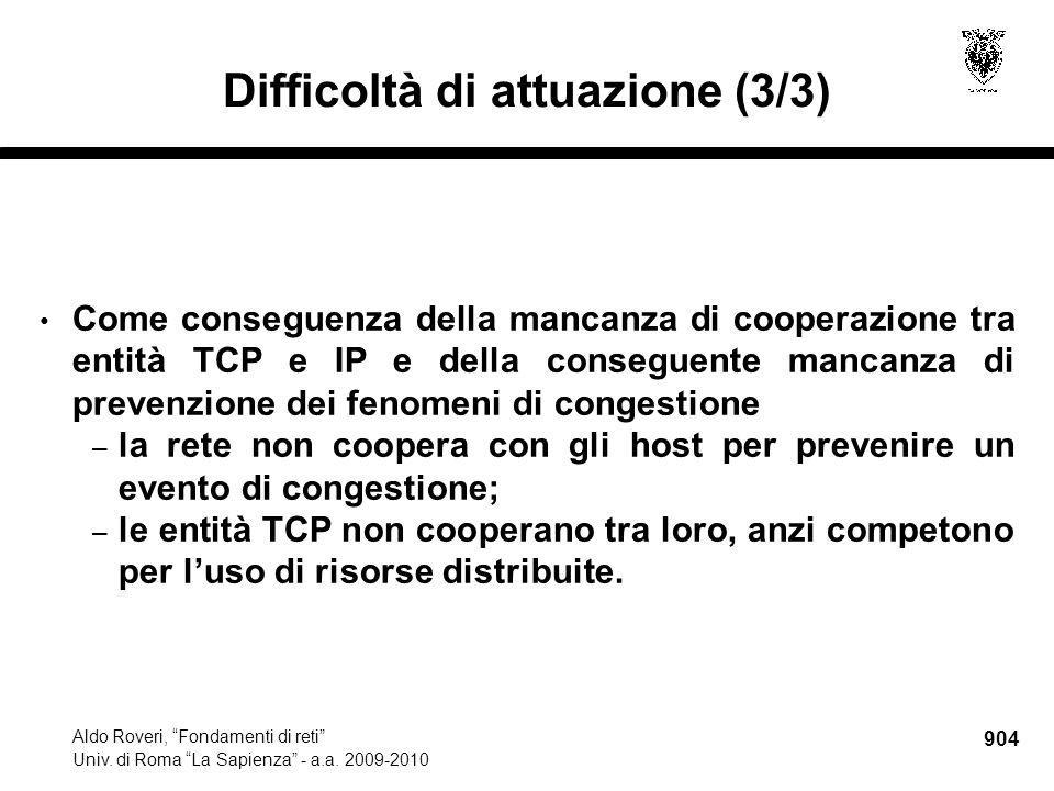 904 Aldo Roveri, Fondamenti di reti Univ. di Roma La Sapienza - a.a.