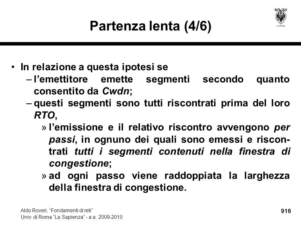 916 Aldo Roveri, Fondamenti di reti Univ. di Roma La Sapienza - a.a.