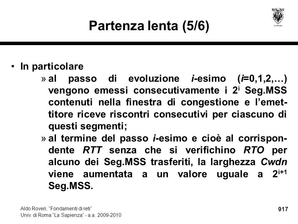 917 Aldo Roveri, Fondamenti di reti Univ. di Roma La Sapienza - a.a.
