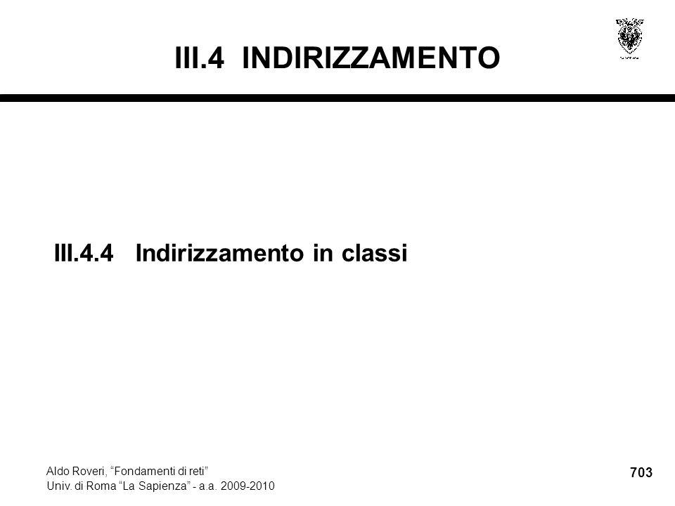 703 Aldo Roveri, Fondamenti di reti Univ. di Roma La Sapienza - a.a.