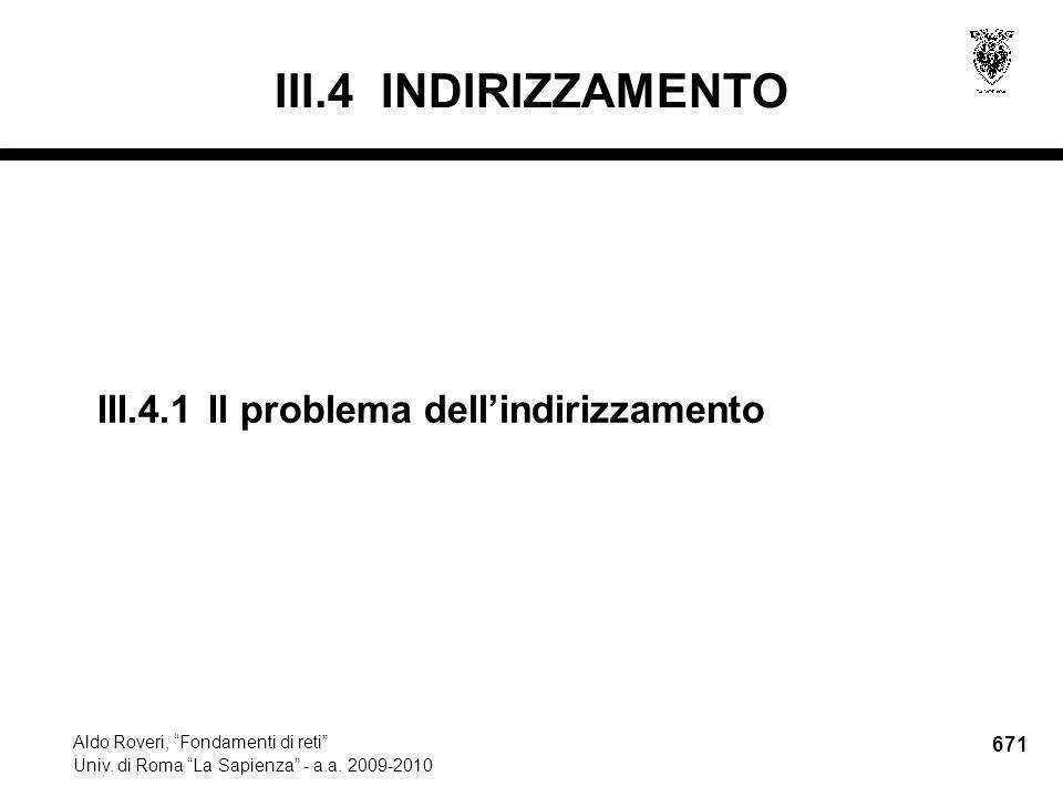 671 Aldo Roveri, Fondamenti di reti Univ. di Roma La Sapienza - a.a.