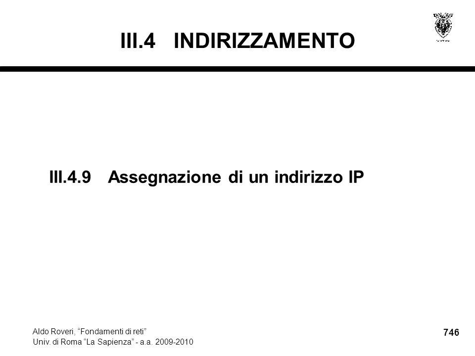746 Aldo Roveri, Fondamenti di reti Univ. di Roma La Sapienza - a.a.