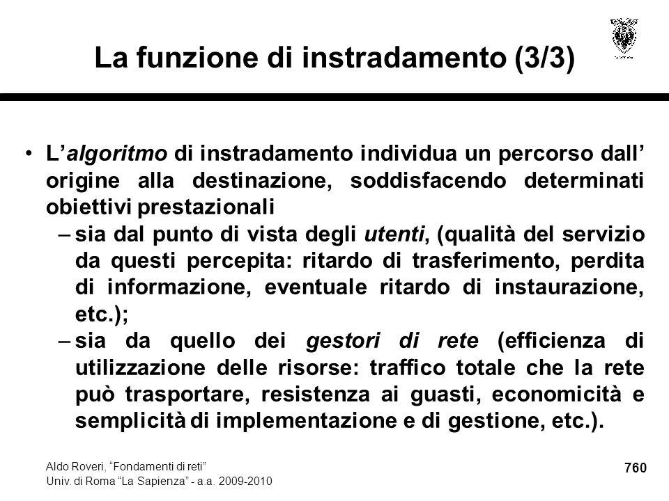 760 Aldo Roveri, Fondamenti di reti Univ. di Roma La Sapienza - a.a.