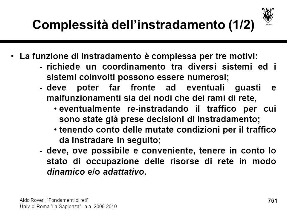 761 Aldo Roveri, Fondamenti di reti Univ. di Roma La Sapienza - a.a.